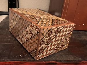 Vintage Japanese Puzzle Box w/ interior nesting box and secret drawer for Sale in Pleasant Hill, CA