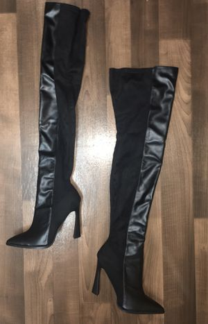 Fashion nova thigh high boots for Sale in Tacoma, WA