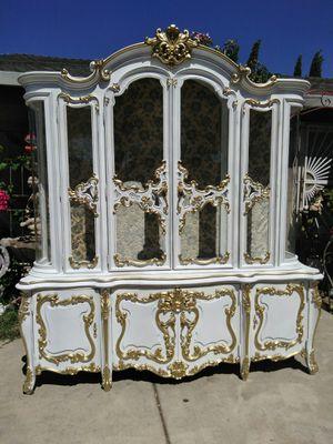 French rococo vitrina china hutch for Sale in Stockton, CA
