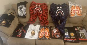 Bape x Travis Scott x Marilyn Monroe x Tiger Shirts and sweats.🔥🔥🔥 for Sale in Arlington, TX