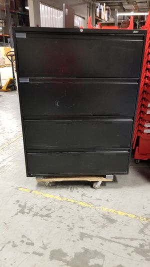 Black file cabinet for Sale in Henrico, VA