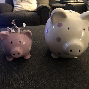 Purple and White Polka dot Piggy Banks for Sale in Costa Mesa, CA