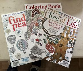 3 Adult Therapeutic Coloring Books for Sale in Clovis,  CA