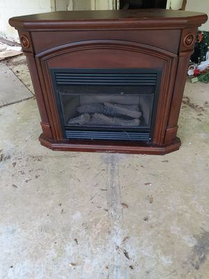 (2) Stand Up Gas Fire Place/ Antique China Cabinet for Sale in Marietta, GA