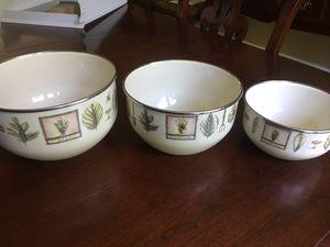 Naturewood by Pfalzgraff metal mixing bowls for Sale in Leesburg, VA