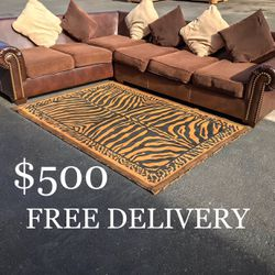 Large Ashley Furniture Sectional Couch w/ Pillows for Sale in Las Vegas,  NV