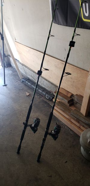 2 fishing poles with bite alarm for Sale in Diamond Bar, CA