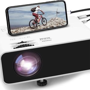 Brand New in Box Pro Mini Movie Projector 1080P Supported Portable Video Projector, with 45000 Hrs LED Lamp Lifeith TV Stick, PS4, HDMI, USB, AV, DVD for Sale in Union City, CA