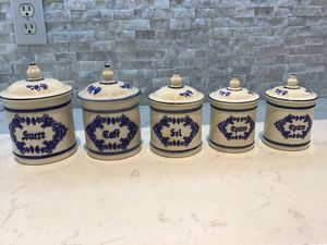Vintage French kitchen canisters for Sale in Miramar, FL