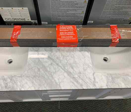 "New Allen+Roth 60"" Inches Double Sink Bathroom Vanity! 8S"