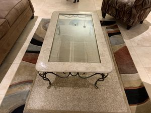 Marble and glass coffee table for Sale in Phoenix, AZ