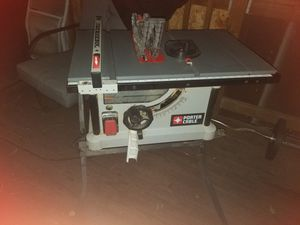 Porter cable table saw with stand for Sale in Spanaway, WA