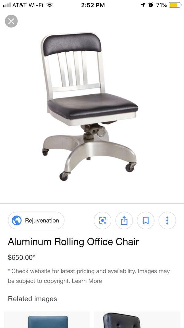 Industrial mid-century modern swivel chair