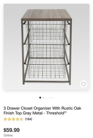 3-Drawer Closet Organizer for Sale in HOFFMAN EST, IL