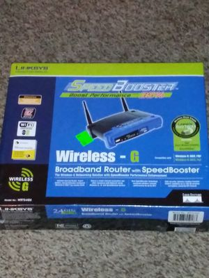 Linksys speed booster router wireless G for Sale in Edwardsville, PA
