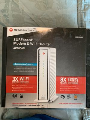 Motorola Arris Modem Router Combo for Sale in Dallas, TX