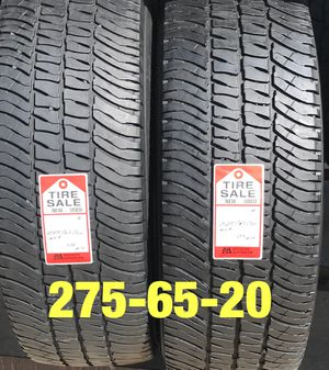2 used tires 275/65/20 Michelin AT for Sale in Houston, TX