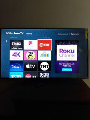 """ONN.ROKU 55"""" Flat Screen for Sale in Dearborn, MI"""