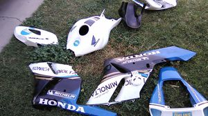 Honda parts for motorcycle don't now the year good condition need to go moving to vages for Sale in San Bernardino, CA