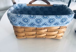 Longaberger basket with provincial paisley liner and protected for Sale in Cape Coral, FL