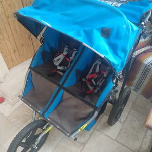 BOB double-wide stroller, blue for Sale in Altadena, CA