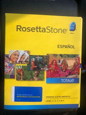 Rosetta Stone Spanish Level 1,2,3,4,5 for Sale in Littleton, CO