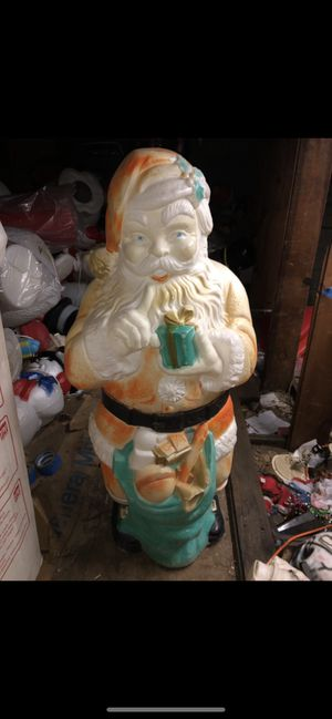 Vintage Christmas blow mold Santa for Sale in Bolingbrook, IL