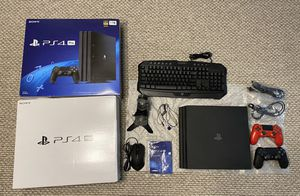 PS4 Sony Playstation 2 Controllers with charging station + Gaming Keyboard and Mouse for Sale in Willow Springs, IL