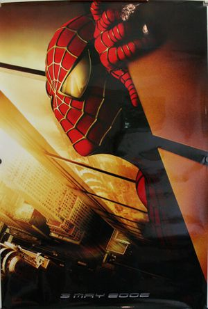 "Rare & Recalled Official ""Spider-Man"" Movie Theater Poster with World Trade Center Twin Towers on poster! Rare Find! for Sale in Traverse City, MI"