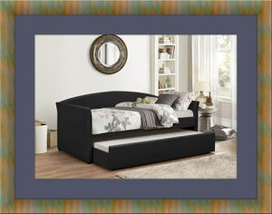 Daybed black with mattress for Sale in Washington, DC
