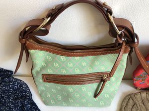 Dooney & Bourke bag, leather+fabric for Sale in Oakton, VA