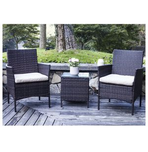 3PC Cafe Set Outdoor Patio Furniture Set Brown for Sale in Orlando, FL