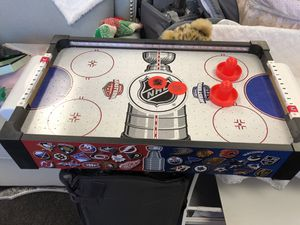 Mini air hockey table battery operated for Sale in Las Vegas, NV