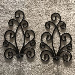 Candle Sconces...Black for Sale in Jackson Township,  NJ