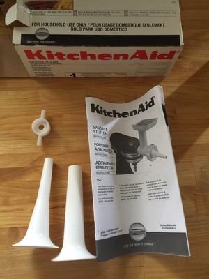 Kitchen aid sausage stuffer adaptor for Sale in Baltimore, MD