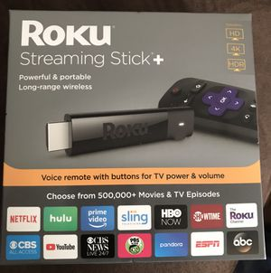 Brand New Sealed Roku Premium+ 4K, screen mirroring, private listening and warranty for Sale in Cary, NC