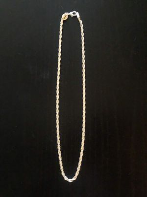 New Sterling Silver Plated Stamped 925 Rope Chain 4MM Necklace 20, 22, 24 Inch for Sale in Las Vegas, NV