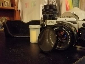 Canon AE-1 Program & Portra 400 Film & 2 Lenses...Also lense cap & original case for Sale in Moreno Valley, CA