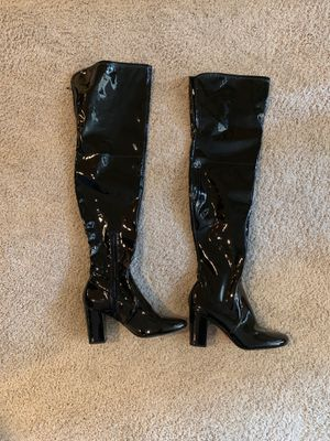 Thigh high pat n leather boots for Sale in Las Vegas, NV