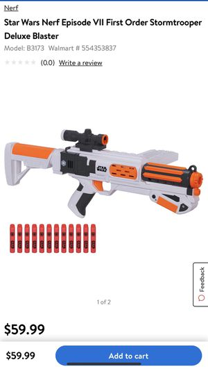 Star Wars NERF Stormtrooper Toy Gun Pistol Blaster for Sale in Miami, FL