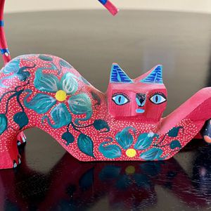 Cat with Ball- Oaxacan Wood Carving for Sale in Marietta, GA