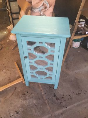 Tiffany blue mirrored cabinet for Sale in Las Vegas, NV