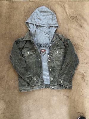 Boys Urban 2 in 1 Corduroy jacket & gray zip hoodie for Sale in Olympia, WA