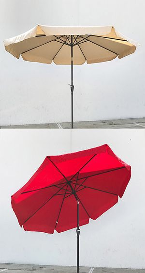 New $40 each Outdoor 10' ft Patio Umbrella Aluminum Beach Garden w/ Tilt Crank (4 Colors) for Sale in Whittier, CA