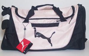 PUMA Defiance Duffle Sports Bag Pink Black Adjustable Shoulder Strap. for Sale in Los Angeles, CA