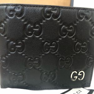 Gucci Wallet guccissima Monogram Black leather New Unisex for Sale in New York, NY