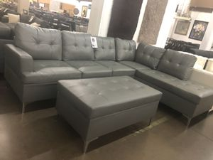 Bonded leather sectional. Brand new. Ottoman $125 extra. for Sale in Arlington, TX