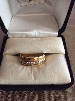 14K Yellow Gold diamond wedding band for Sale in Manassas, VA
