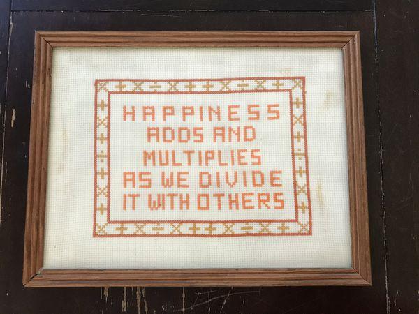 Framed Cross Stitch - Well Loved - Vintage