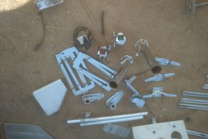 Alum boat parts lights tie downs mounts for Sale in Phoenix, AZ